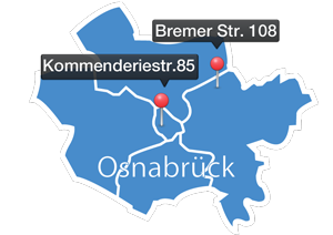 Stadtumriss Osnabrück
